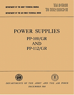 manuale Power supplies PP-109/GR and PP-112/GR